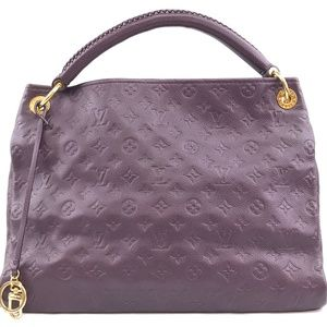 Artsy Hobo Purple Empreinte Shoulder Bag
